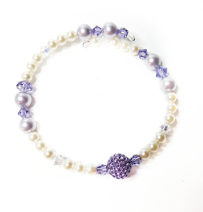 PASTEL DREAMS Tanzanite Sparkle Wrap Bracelet