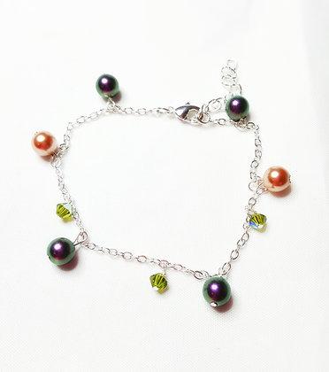Mardi Gras Dainty Bracelet