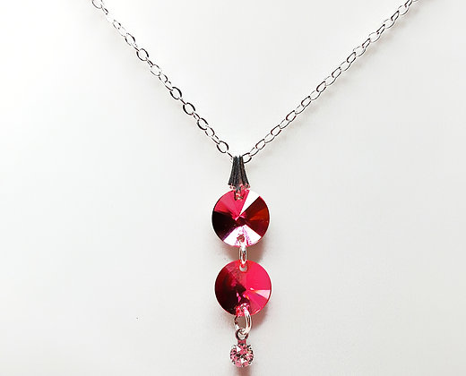 Rivoli Pink Sparkle necklace