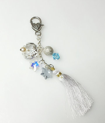 Winter Snowflake Bag Charm