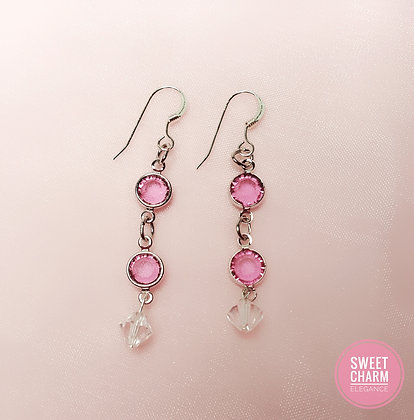 Pretty in Rose dangle earrings