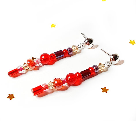 Red Cherry Dangle  Earrings