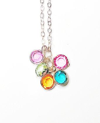Multi-Colored Rivoli necklace