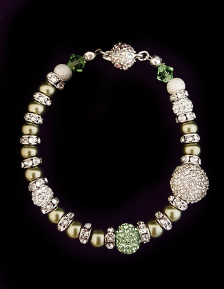 ROCK GLAMOUR COLLECTION-Green Sparkle Bracelet