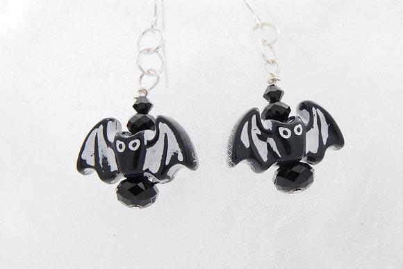Bat Drop earrings with Swarovski Crystals SWB1003