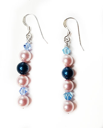 Pink and Blue Sparkle earrings