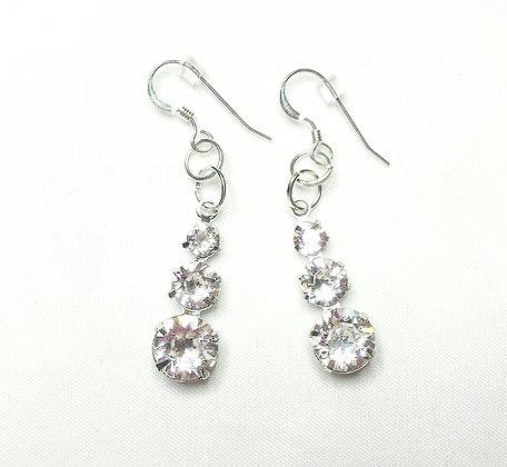 Sweet Heart Crystal Drop Earrings