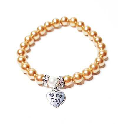 """Love My Dog"" Charm Bracelet"