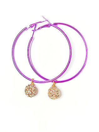 Purple Hoop Earrings