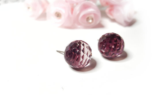 Princess Purple stud earrings-LIMITED