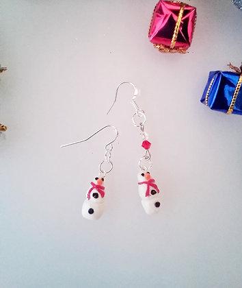Snowmen Handmade Dangle earrings SM001