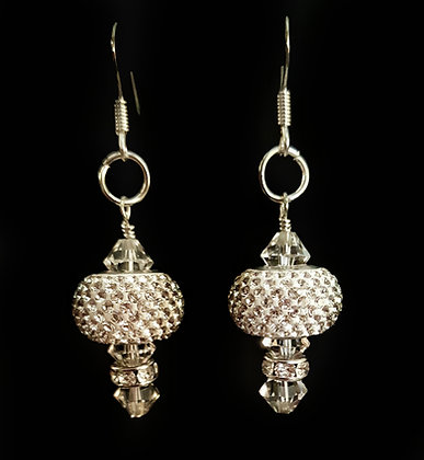 ROCK GLAMOUR White Hot Sparkle Earrings