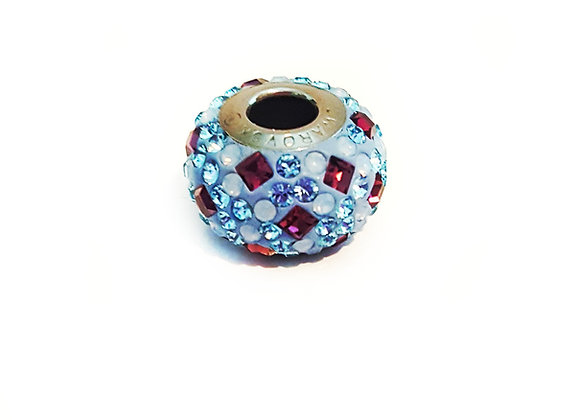 Multi-colored Swarovski© crystal charm