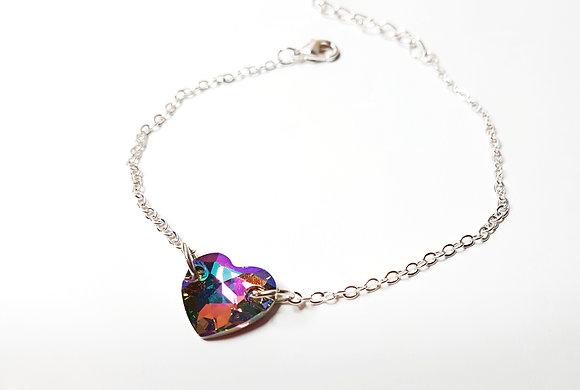 Crystal Passion Heart Bracelet