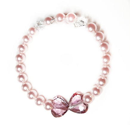 Kissing Pink Heart bracelet