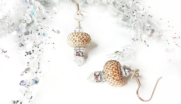 Golden Shadow Sparkle earring