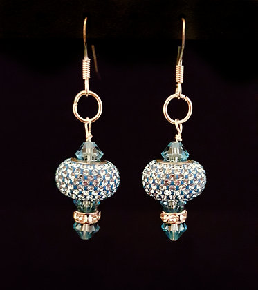 ROCK GLAMOUR COLLECTION- Blue Dazzle Rock Earrings