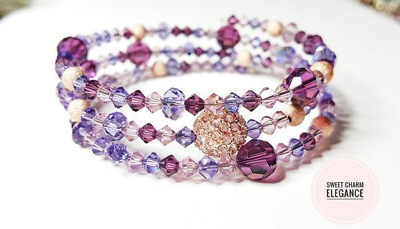 Purple sparkle wrap bracelet