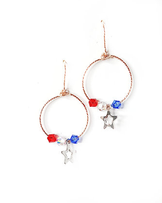 RWB Starry Earrings