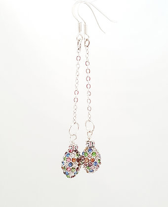 Pave Crystal Pastel Earrings