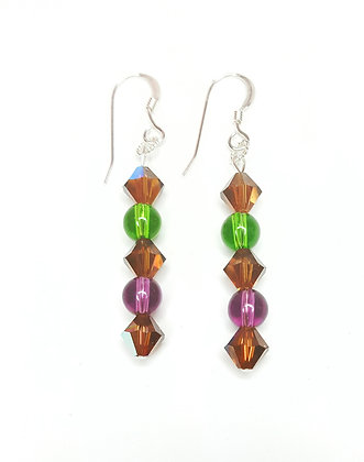 Swarovski© Fall Inspired earrings