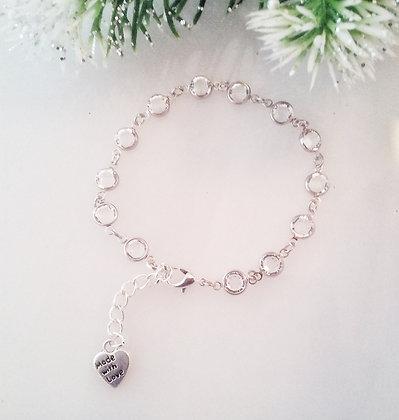 Swarovski Clear Crystal Chain Bracelet SCC002