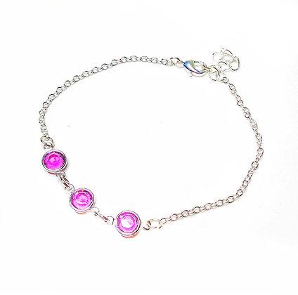 Amethyst chain bracelet