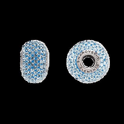 Aquamarine Swarovski© crystal bead