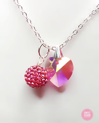 Candy Crush Heart Necklace