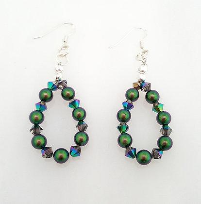 Sea of Green Earrings