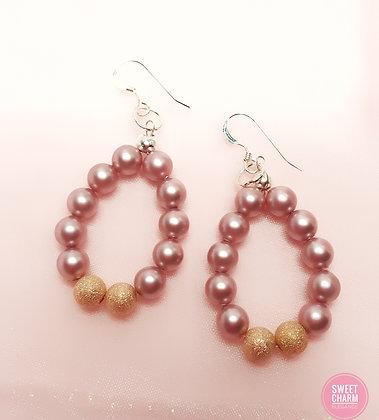 Rose Stardust earrings