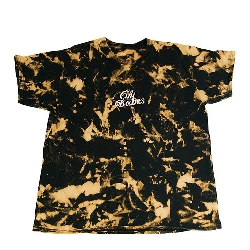 Chi Babes Bleached Tie Dye T-shirt(Cameras not included)