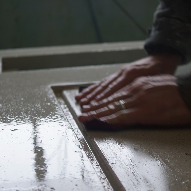 Handpressed Concrete Worktop