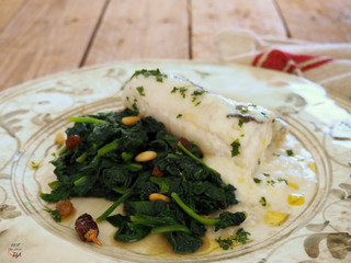 Stuffed Haddock with Spinach
