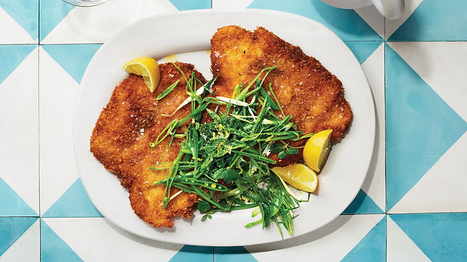 Chicken Saltimbocca with Crunchy Pea Salad
