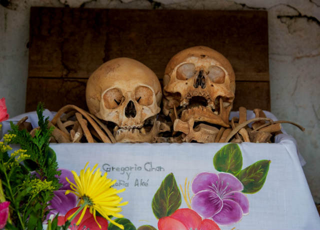 Osario cementerio Pomuch Campeche
