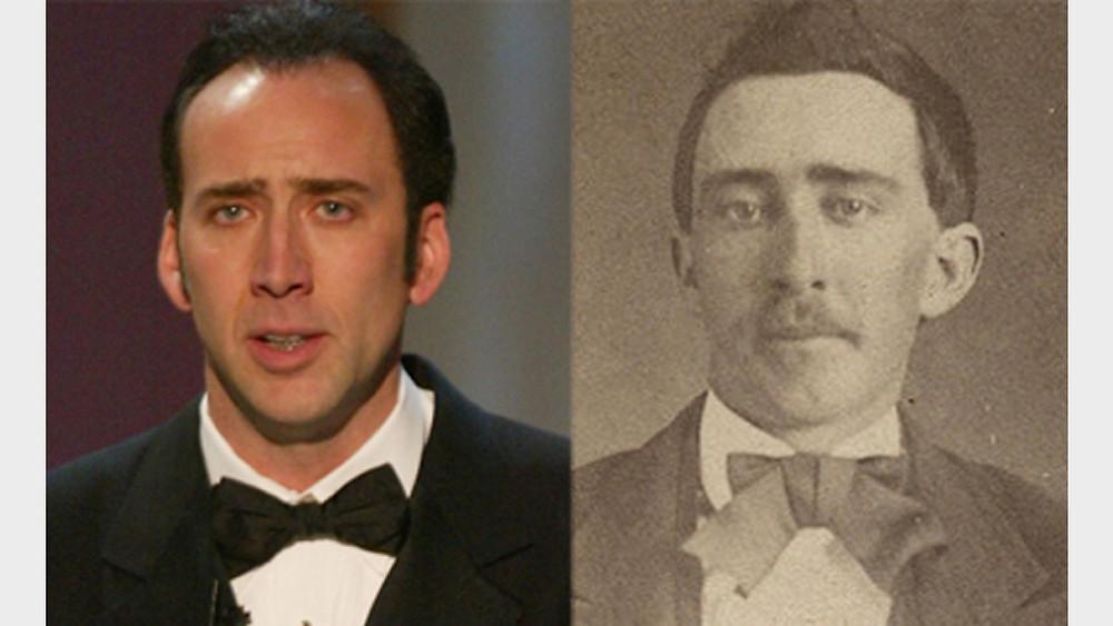 Nicolas Cage y su increíble parecido a una fotografía de 1870