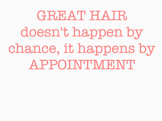 PREBOOK YOUR NEXT APPOINTMENT!