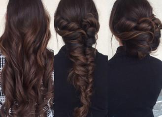 WEDDING HAIR THREE WAYS