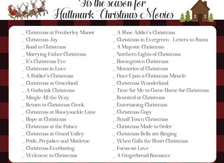 TIS' THE SEASON FOR HALLMARK CHRISTMAS MOVIES!