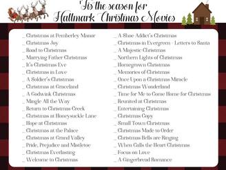 TIS' THE SEASON FOR HALLMARK CHRISTMAS MOVIES!