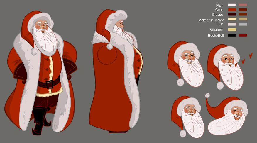 """Under the mistletoe"". Santa Design.Inginuity studious"