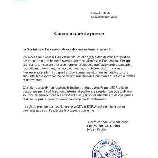 EDF - PARTENAIRE OFFICIEL DE LA GTA
