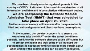 APRIL 2020 NMAT Postponed Indefinitely