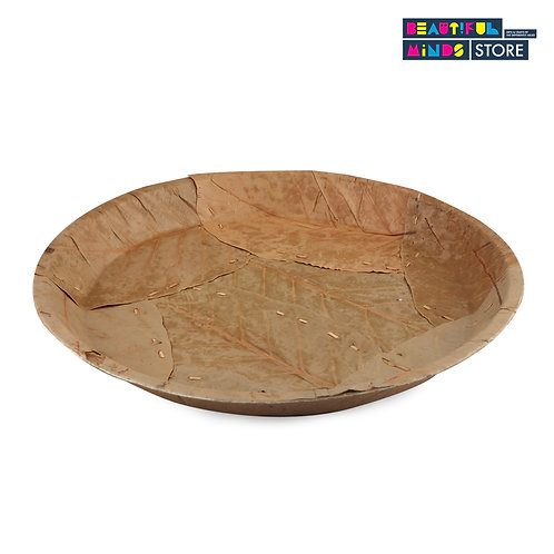"""Disposable Leaf Plate - 12""""-10"""