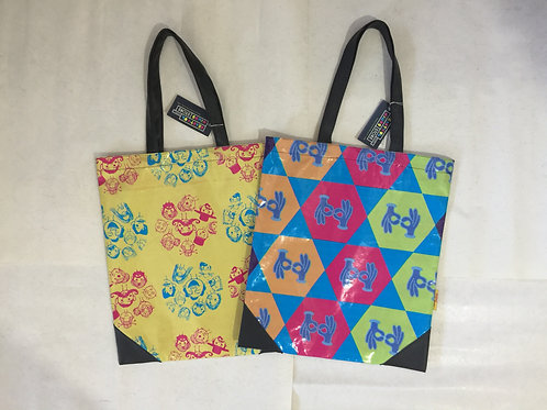 Upcycled Colourful Tote