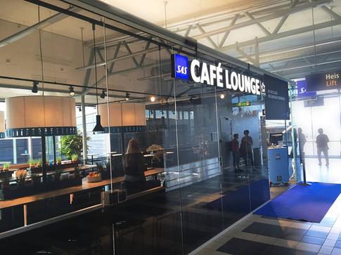 Innglassing av lounge på Tromsø lufthavn