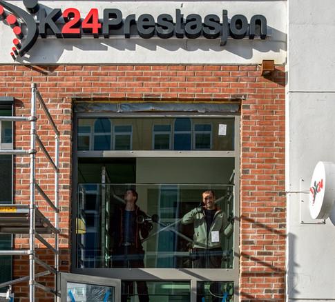 Bytte av inngangsparti på 24 Prestasjon