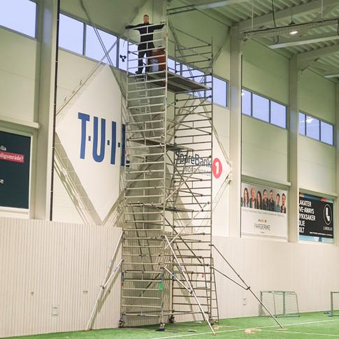 Bytte av glass - TUIL arena