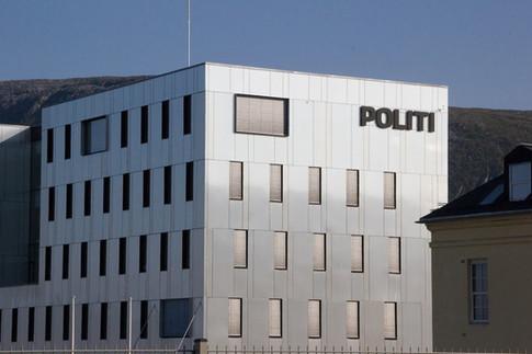 Solskjerming på det nye Politihuset